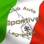 logo club auto sportive legnanesi traccia bandiera quadrata